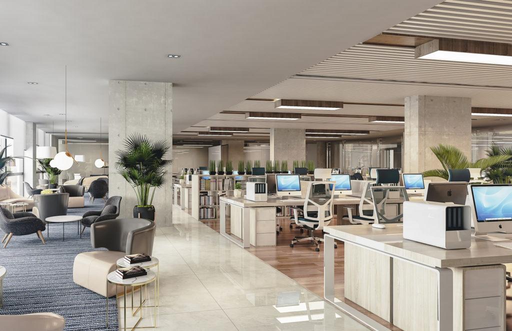 Foto render oficina tipo 4 Centro Empresarial Potenza