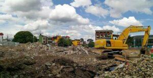 Demolición estructuras existentes